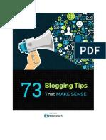 73 Blogging Tips That Make Sense