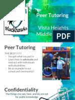 peer tutor training