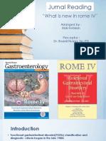 Jurnal Reading rome IV