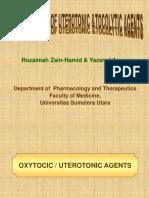 Pharmacology of Uterotonics & Tocolytics