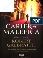 Robert Galbraith - Seria Cormoran Strike #3-Cariera Malefica