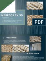 Ladrillos Ceramicos Impresos en 3d