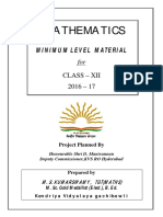 Maths Xii Mll Study Material 2016 17