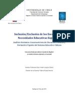 Inclusión/Exclusión delosEscolares con NecesidadesEducativasEspeciales
