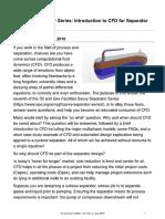 CFD for Separator Design