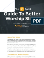 CMG the 21 Point Guide to Better Worship Slides