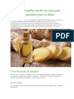 Aceite de Jengibre Hecho en Casa Para Reemplazar Pastillas Para El Dolor