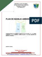 Plan de manejo ambiental de un pavimento rigido