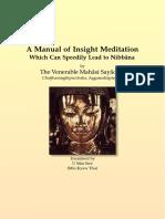 A Manual of Insight Meditation