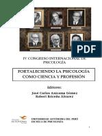 Libro Final Del IV Congreso Internacional de Psicologia