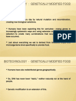 BIOTECHNOLOGY - Genetically Modified Food