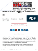 Franz Boas e Il Razzismo Scientifico - Storia - Dossier