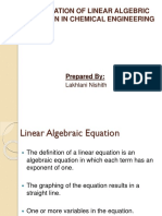 Application OF LINEAR ALGEBRIC EQUATION In Chemical Engineering.pptx