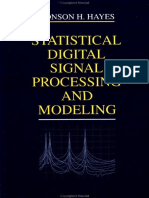 Statistical Digital Signal Processing and Modeling by Hayes.pdf