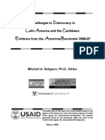 Challenges to democracy in Latin America