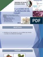 Control de La Acidez en El Proceso de Yogurt (2)