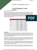 Aceite Hidraulico Correcto