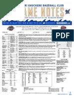 8.28.17 vs. JAX Game Notes
