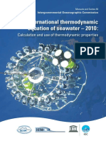 The International Thermodynamic Equation of Seawater – 2010