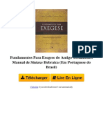 I5OM Fundamentos Para Exegese Do Antigo Testamento Manual de Sintaxe Hebraica Em Portuguese Do Brasil Par Carlos Osvaldo Cardoso Pinto 8527505290