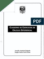 Cuaderno de Ejercicios de Calculo Diferencial