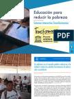 Educación para reducir la pobreza -  Sistema Interactivo Transformemos