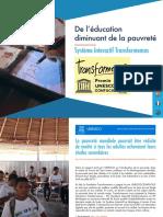 De l'éducation diminuant de la pauvreté -  Système Interactif Transformemos