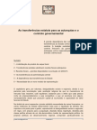 Transferências Estatais Para as Autarquias e o Controlo Governamental