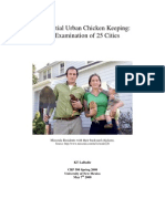 Urban Chicken Ordinance Research Paper