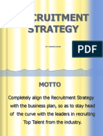 Free Download PPT Format Sample Recruitment Strategy Template