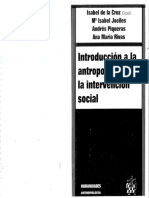 Introduccion a La Antropologia Para La Intervencion Social Isabel de La Cruz