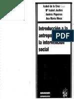 Introduccion a La Antropologia Para La Intervencion Social Isabel de La Cruz