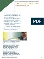 Importancia Del Material Didáctico en El Área de Matemáticas - Material Didáctico Para Mpcl