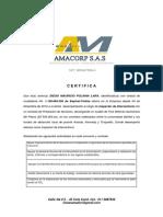 AMACORP Certificacion Diego