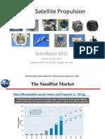 AstroRecon 2015 SmallSat Propulsion Dankanich