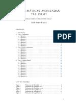 Taller 01 - Mate Avanzadas