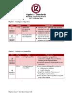 algebra 1  semester 1 standards 2017 18