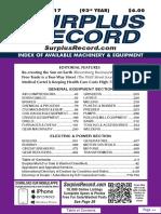 September 2017 Surplus Record Machinery & Equipment Directory