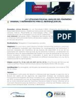 Uso de La Fuerza y Letalidad Policial Analisis Del Fenomeno Criminal y Litigio de Casos