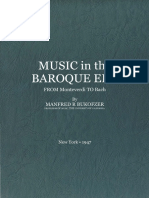 BUKOFZER, Manfred - Music in the Baroque Era From Monteverdi to Bach 1947