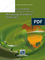 North American Industry Classification System, Mexico. Methodological Synthesis. SCIAN 2013