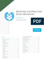 Relativity - Certified User Exam Workbook - 9.5