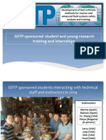 SDTP Student and Young Researcher Training Internships and Contributions