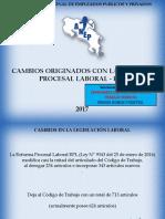 Cambios Originados Con La Reforma Procesal Laboral - Rpl