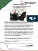 NP87-2017 | Más de mil auditores de la Contraloría fortalecerán conocimientos en identificación de delitos de corrupción