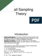 Small Sampling Theory Presentation