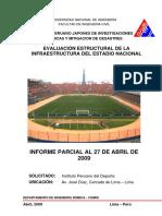 Informe Parcial Al 27-4-2009 - Estadio Nacional