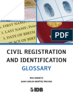 Civil Registration and Identification Glossary