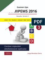 Examen Tipo COMIPEMS 2016 Resuelto. Versión 3