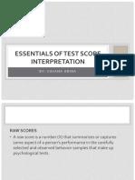III - Essentials of Test Score Interpretation